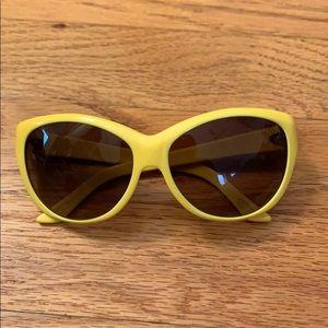 Yellow Ralph Lauren sunglasses